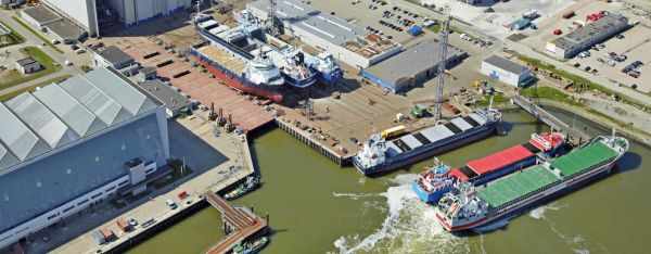 Damen Shiprepair Harlingen The Netherlands Shipyards